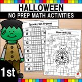 Halloween Math Worksheets (1st Grade)