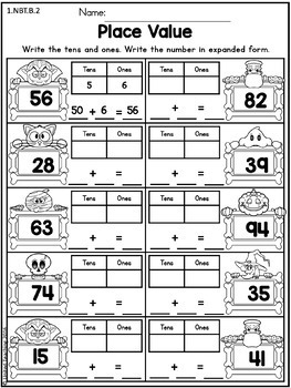 Halloween Math Worksheets (1st Grade) by United Teaching | TpT
