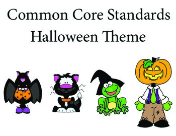 Halloween 1st grade English Common core standards posters