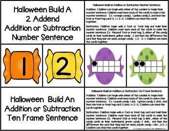 Halloween 2 Addend Addition & Subtraction With Ten Frames