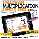 Halloween 2-Digit by 1-Digit Multiplication BOOM Cards™