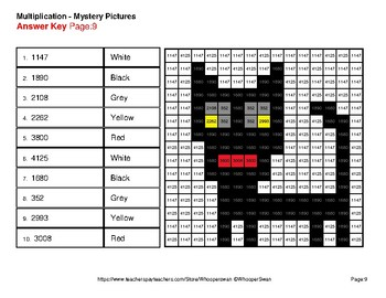 halloween 2 digit by 2 digit multiplication color by number mystery pictures - Color By Number Halloween 2