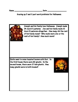 Halloween 2 and 3 Step Bar model problems
