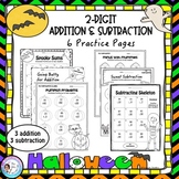 Halloween 2-digit Addition & Subtraction Pages (no-regrouping)