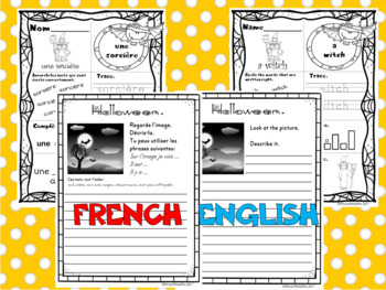 Halloween - 20 Writing Prompts (pages d'Écriture) English + French