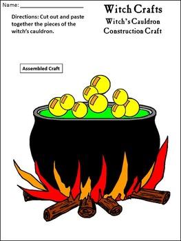 Halloween Crafts Activities: Witch Crafts Halloween Activity Packet
