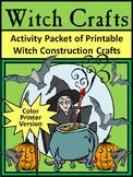 Halloween Craft Activities: Witch Crafts Halloween Activites - Color Version