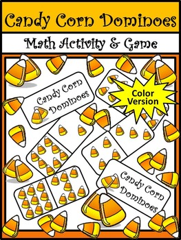 Halloween Math Activities: Halloween Dominoes Math Game Activity Bundle