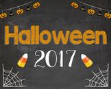 Halloween 2017 photo prop sign