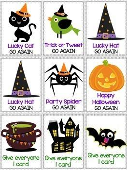 Halloween Game: Silent E & Vowel Team Word Work