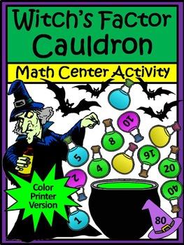 Halloween Math Activities: Witch's Factor Cauldron Hallowe