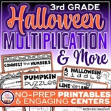 Halloween Math Worksheets and 3rd Grade Multiplication Activities
