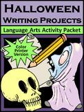 Halloween Language Arts Activities: Halloween Writing Project Activities  -Color