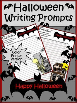 Halloween Language Arts Activities: Halloween Writing Prompts