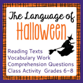 Halloween History Informational Texts Reading Passages, Activities