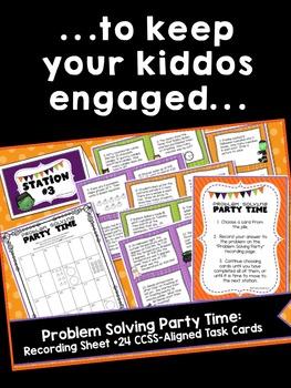 Halloween Math 3rd Grade ~ Halloween Math Centers + ELA Centers