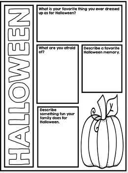 Halloween Poster Project - All About Halloween - No Prep Activity and Resources