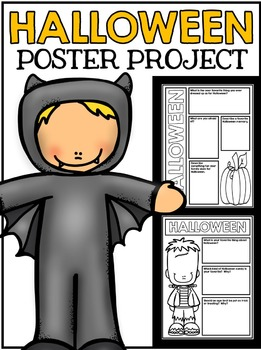Halloween Poster Project - All About Halloween - No Prep A
