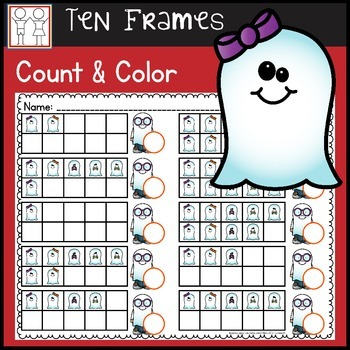 Ten Frame Counting Worksheets