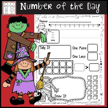 Number of the Day Template - Halloween Math