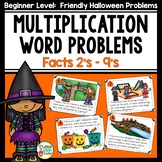Halloween Word Problems for Multiplication Using Basic Facts