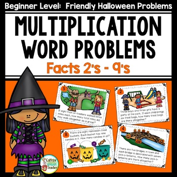 Halloween Multiplication Word Problems - Basic Facts