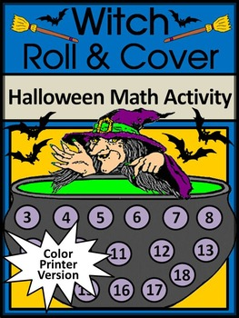 Halloween Activities: Witch Roll & Cover Halloween Math Activity Packet