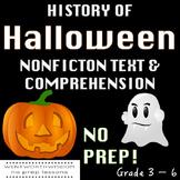 Halloween Non-fiction text Halloween reading comprehension