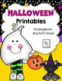 Halloween No-prep Printables