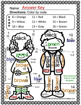 Color By Numbers Halloween Math Addition - Dollar Deal