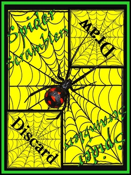 Halloween Activities: Spider Scramblers Activity Packet Bundle - Color & B/W