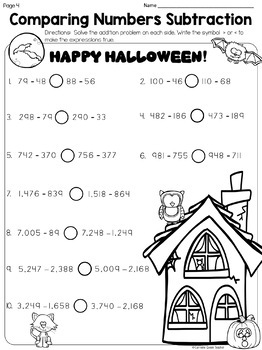 Halloween Math With Addition, Subtraction, and Multiplication