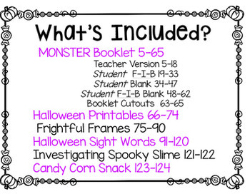 Halloween Activities: Halloween Activity Packet