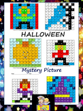 Halloween Activities - Mystery Picture - addition- subtraction- alphabet- shapes