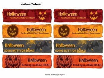 Halloween Bookmarks - Reading is a Real Treat