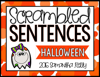Halloween Scrambled Sentence Station