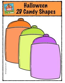 Halloween 2D Candy Shapes {P4 Clips Trioriginals Digital Clip Art}