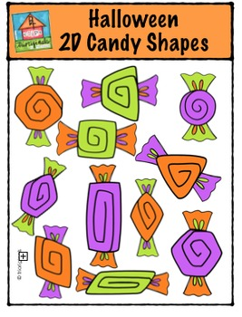 Halloween 2D Candy Shapes {P4 Clips Trioriginals Digital C