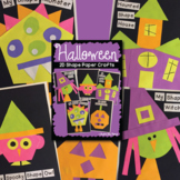 Halloween Activities 2D Shape Paper Crafts