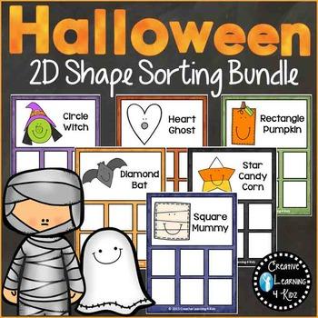 Halloween 2D Shape Sorting Mat Bundle