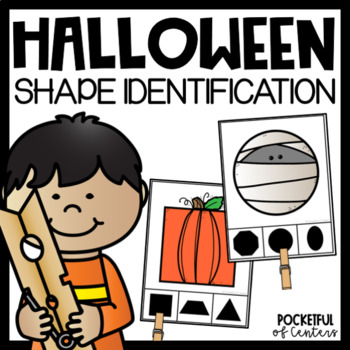 Halloween 2D Shapes Clip Cards