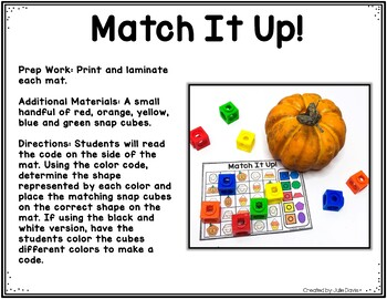 Halloween 2D Shapes Games and Activities