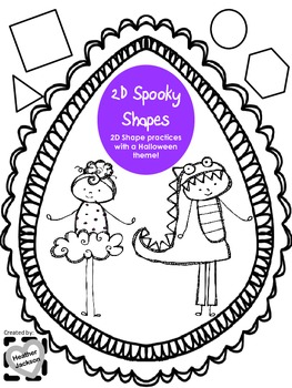 Halloween 2D Shapes Practice Worksheets/Printables