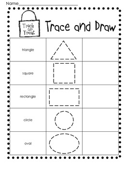 photo relating to Printable Shapes Worksheets known as Halloween 2D Styles Coach Worksheets/Printables