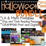 Halloween Activities 2nd Grade BUNDLE ~ Halloween Reading Passages
