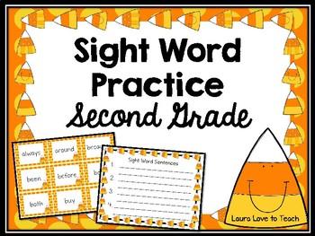 Halloween 2nd Grade Sight Word Practice