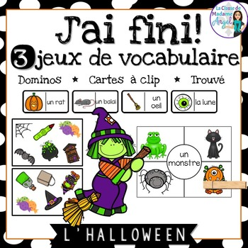 Halloween:  3 Halloween Themed Vocabulary Games in French