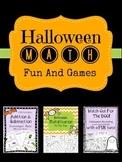 Halloween 3 Math Games Addition Subtraction Round Multiply