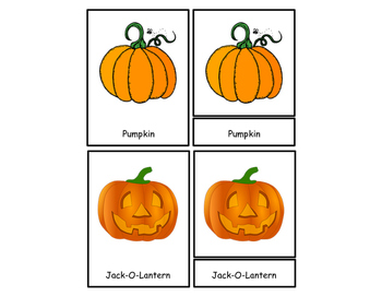 Halloween 3 Part Cards