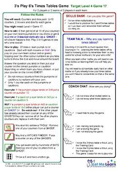 Halloween 3 and 6 Times Tables Games